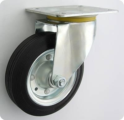 Koło metal-guma 80mm obudowa skrętna 3l
