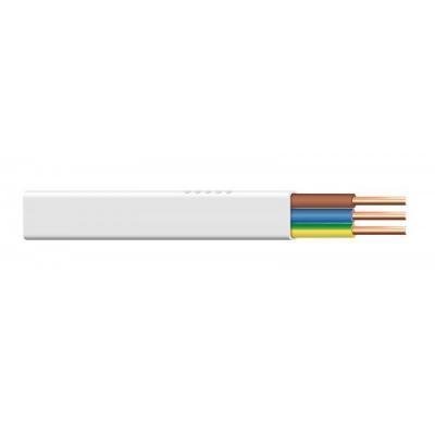 Przewód ydyp 3x2,5 żo biały 300/500v