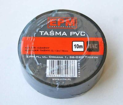 Taśma izolacyjna 19mm*10m czarna