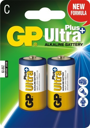 Bateria ultra+ alkaline 1.5v lr14 2 sztuki