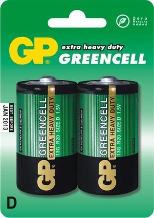 Bateria greencell 1.5v r20 2 sztuki