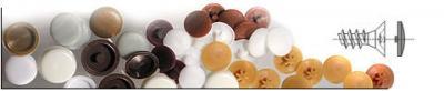 Zaślepki do wkrętów op-100szt kolor brązowy