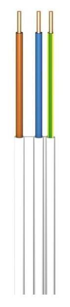 Przewód ydyt 3x2,5 żo biały 300/500v