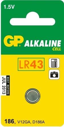 Bateria alk.zegarkowa 1.5v 186, lr43, v12ga, d186a