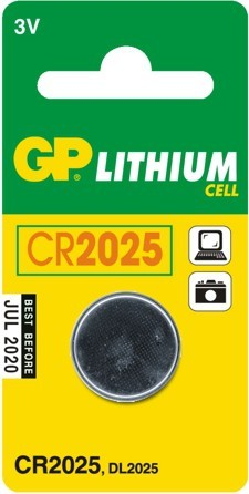 Bateria guzikowa litowa 3v cr2025