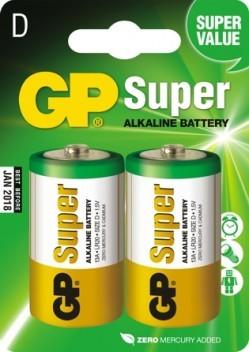 Bateria super alkaline lr20 1.5v 2 sztuki