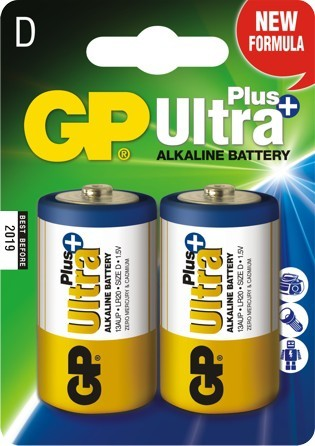 Bateria ultra+ alkaline lr20 1.5v 2sz