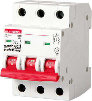 Wyłącznik nadprądowy mcb.pro60 3p c25a 6ka