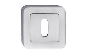 Szyld kwadrat zaokrąglony nikiel satyna na klucz
