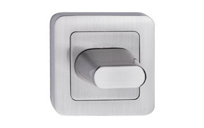 Szyld kwadrat zaokrąglony nikiel satyna wc