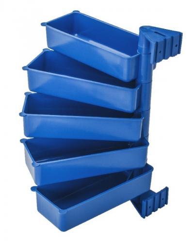Zestaw półek obrotowych 5 elementowych niebieski