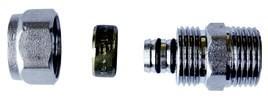 Złączka gwint zewnętrzny 1/2*16*2 wkładka aluminiowa