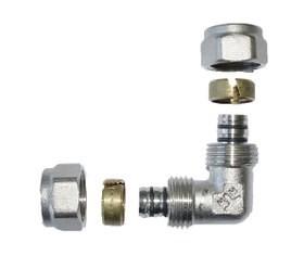 Kolano 90 pex/pex 16*16*2 wkładka aluminiowa