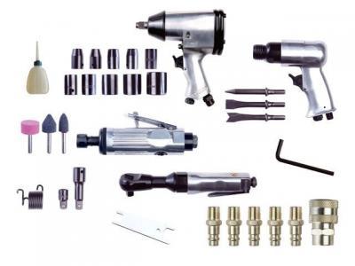 Zestaw narzędzi pneumatycznych 34 szt.