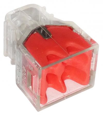 Szybkozłączka 4*0,5-2,5mm2 transparentna/czerwony 10 sztuk