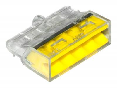 Szybkozłączka 5*0,5-2,5mm2 transparentna/żółty 10 sztuk