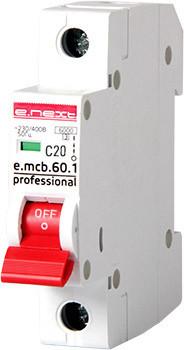 Wyłącznik nadprądowy mcb.pro60 1p c20a 6ka