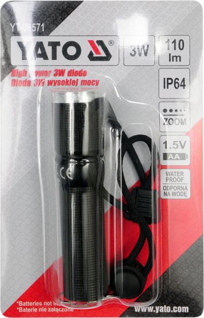 Metalowa latarka z diodą cree 100*25mm