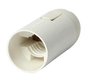 Oprawka plastikowa e14 biała