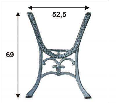 Noga do stolika ''chinka'' kpl.