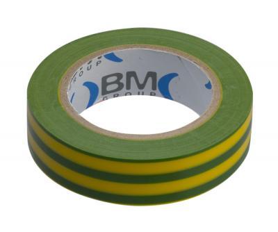 Taśma elektroizolacyjna 10m*15mm żółto-zielona