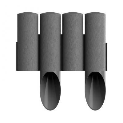 Palisada ogrodowa standard14,5cm*2,3mb grafitowa