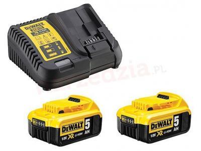 Zestaw ładowarka wielonapięciowa xr + 2 akumulatory 5,0 ah