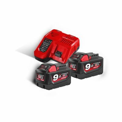 Zestaw akumulatorów m18 2*9.0ah + ładowarka m18 nrg-902