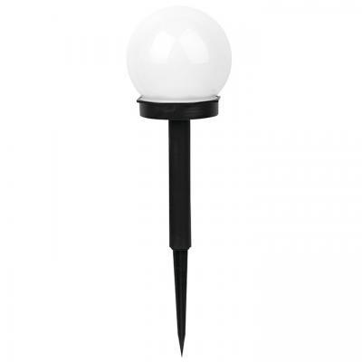 Lampa solarna polux kula biała plastik czarny