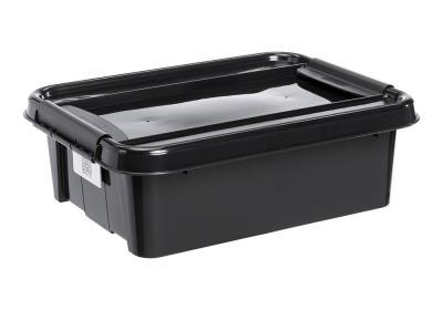Pojemnik pro box 21l płaski czarny, czarna pokrywa