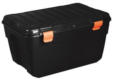 Pojemnik do przechowywania z pokrywą home box 125l czarny