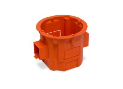 Puszka łączeniowa 60x60 głęboka szeregowa pomarańczowa