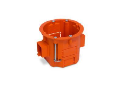 Puszka łączeniowa 60x60 głęboka szeregowa pomarańczowa g/k
