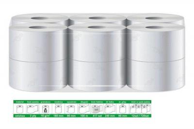 Papier/ręcznik 100% celuloza, 100m/9cm op. 12szt