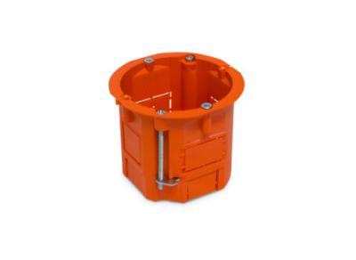 Puszka łączeniowa 60x60 głęboka pomarańczowa g/k