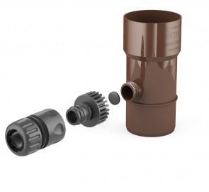 Odzyskiwacz wody deszczowej 90mm brąz