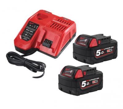 Zestaw akumulatorów m18 2*5.0ah + ładowarka m18 nrg-502