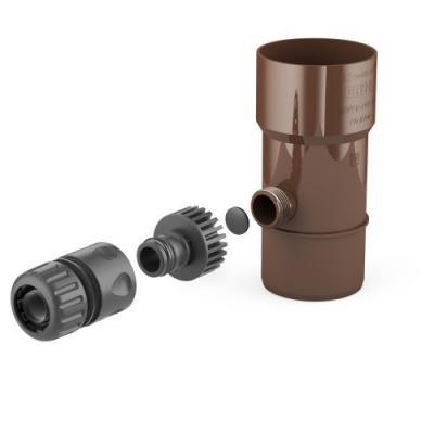 Odzyskiwacz wody deszczowej 110 mm brąz bryza