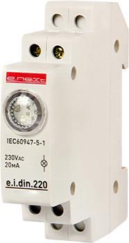 Lampka sygnalizacyjna na szynę din e.i.din.220 zielona