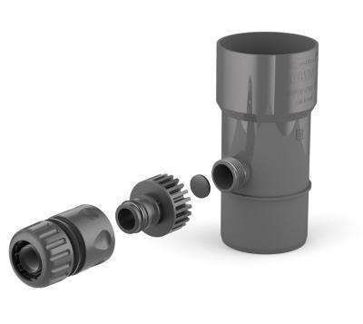 Odzyskiwacz wody deszczowej 63mm grafit