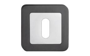 Szyld kwadrat zaokrąglony na klucz grafit