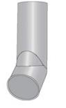 Rura z wylotem ocynkowana 80mm 1mb