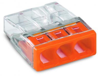 Szybkozłączka wago 2273-203 3x0,5-2,5 mm2 pomarańczowa 5 szt