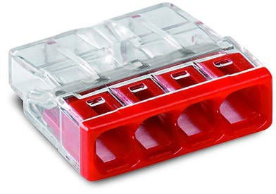 Szybkozłączka wago 2273-204 4x0,5-2,5 mm2 czerwona 5 sztuk