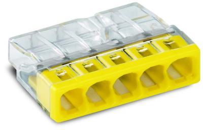 Szybkozłączka wago 2273-205 5x0,5-2,5 mm2 żółta 5 sztuk