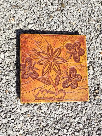 Kolorowa płytka chodnikowa - kwiaty 30x30x5cm