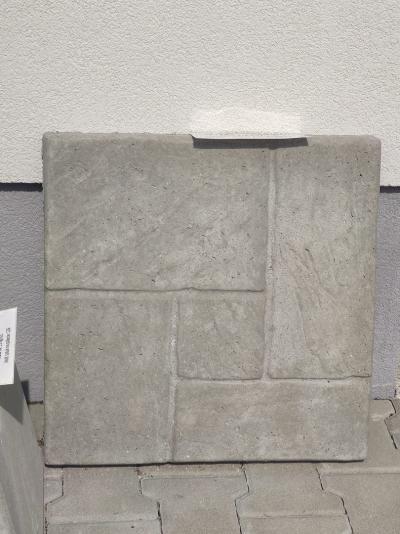 Płytka chodnikowa - szara wzór 50x50x6cm