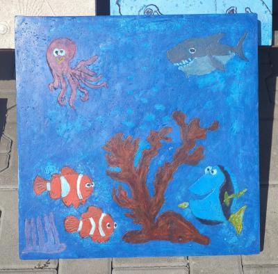 Kolorowa płytka chodnikowa - Nemo 50x50x6cm