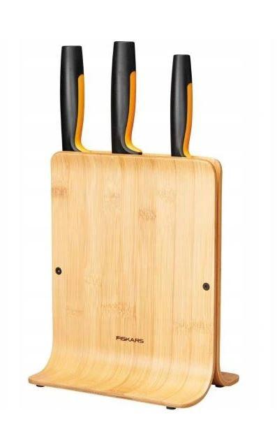 Zestaw 3 noży w bloku bambusowym