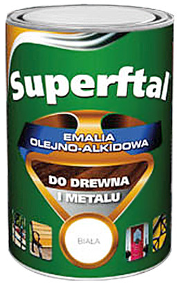 Emalia superftal do drewna i metalu biała matowa 0.8l